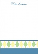 Baby Thank You Cards - Baby Argyle Blue