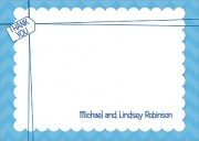 Baby Thank You Cards - All Wrapped Up Blue