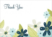 Baby Flowers - Baby Thank You Cards