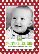 Happy Dot Christmas -  Baby Holiday Cards