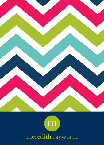 Thank You Cards for Women, Chevron Colors Design