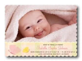 Girl Photo Birth Announcements - Scallop She