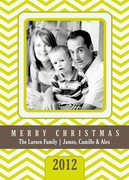 Canary Chevrons -  Christmas cards