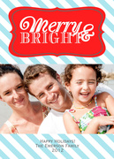photo Christmas cards - Baby Blue Bright
