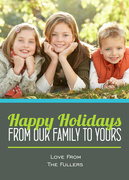 holiday photo cards - The Holiday Times