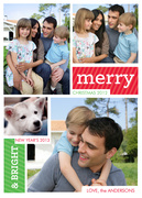Merry Collage - photo Christmas cards