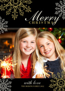 photo Christmas cards - Silver & Gold