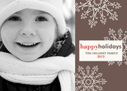 Sophisticated Snow - holiday photo cards