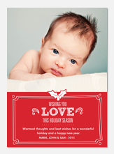 Baby Holiday Cards - Love Design