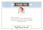 Love Greetings Blue - Baby Thank You Cards