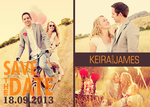 Tangerine Dream Date -  Save the Date Cards for Wedding