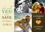 Butterscotch Heart Date - Save the Date Cards