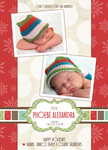 Crimson Gift - Holiday Birth Announcement Cards