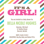 Her Crayon Box -  Baby Girl Shower Invites