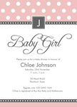 Girl Joy Shower -  Baby Girl Shower Invites