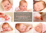 Eight X Pink Love -  Baby Girl Birth Announcements