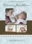 Bundle Up Blue -  Christmas Birth Announcement Cards