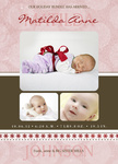 Peppermint Miss -  Christmas Birth Announcement Cards