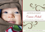 Mint Garden Stripe - Holiday Birth Announcement Cards