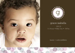 Fizzy Girl -  Baby Girl Birth Announcements