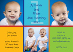 Double One Fun -  Twin Birthday Invitations