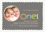 Double Nameplate - Twin Party Invitations