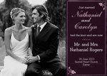 Share your nuptial news with beautiful Wedding Announcements from Simply to Impress! Choose from our wide variety of designs today.  - Burgandy Band