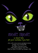 Halloween Party Invitations - Cat's Eye