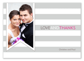 Wedding Announcements - Ribbon Stripe Thanks