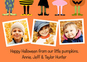 Lil Pumpkins - halloween photo cards