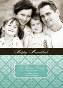 Teal Tile -  Hanukkah cards