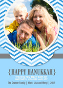 Hanukkah cards - Blue Chevrons