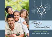 Floating Star - Hanukkah photo cards
