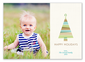 Earth Tree Christmas -  Baby Holiday Cards
