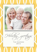 christmas cards - Gold Trellis