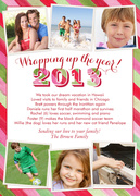 Red RoundRobin - new years photo cards
