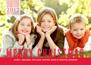 Christmas cards - Cherry Pinstripe