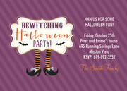 Purple Party Time - Halloween Invitations