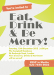 Let's Go Merry! - Christmas Party Invitations
