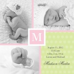 Sweet Collage - Baby Girl Announcement Cards