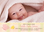 Scallop She -  Baby Girl Birth Announcements