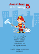 Lil Fireman -  Birthday Invitations for Boys
