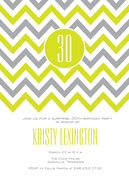 Adult Birthday Invitations - Citrus Zag