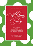 Holiday Bubbles -  Christmas Invitations