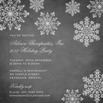 Crystal Filigree -  Christmas Invitations