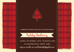 Ruby Plaid Party -  Christmas Invitations