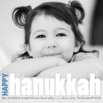 Bold Lights -  Hanukkah Greeting Cards