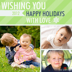 Lime Love - Baby Christmas Cards