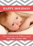 Silver Chevrons - Baby Christmas Cards