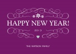 Happy Violets - New Year Cards